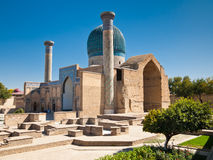 Tamerlan mausoleum. Gur Emir mausoleum of the Asian conqueror Tamerlane (also known as Timur) in Samarkand, Uzbekistan Stock Image