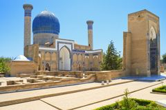 Tamerlane古老陵墓在撒马而罕 免版税库存图片