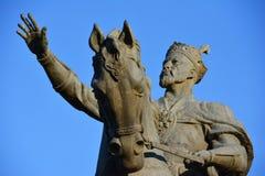 Tamerlane的纪念碑在塔什干 免版税库存图片