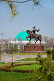 Tamerlane Square in Tashkent Stock Images