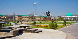 Tamerlane Square in Tashkent Royalty Free Stock Photos