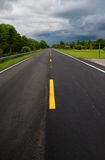 Tamiami trail before thunderstorm. Tamiami trail (US41) extending to Everglades before thunderstorm royalty free stock photos