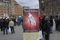 Tamil eelam protest against sri lanka Stock Photography