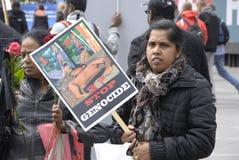 Tamil eelam protest against sri lanka Stock Photo