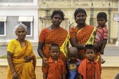 Tamil Nadu-Familie Stockfotos