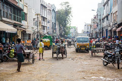 TAMIL NADU, INDIA - FEBRUARY 14: Street. Royalty Free Stock Images
