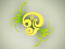 Tamil Om Symbol Stock Photography