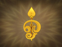Tamil-OM-Symbol mit Trident Lizenzfreies Stockbild