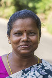 Tamil woman close-up of happy face. Royalty Free Stock Image