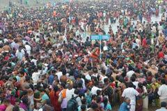 Tamilnadu Indien för Mahamaham festivalkumbakonam Arkivfoto