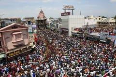 Tamilnadu la India del tirunelveli del festival del coche del templo de Nellaiappar imagen de archivo libre de regalías