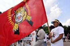 Tamilprotest agains Sri Lanka Stockbild