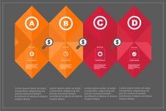 Tamlate del taglio della carta di numero di infographics di affari Immagine Stock Libera da Diritti