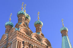 Tammerfors ortodox kyrka. Arkivbilder