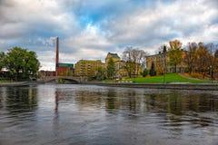 Tammerkoski embankments in Tampere Stock Photo