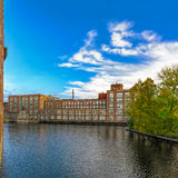 Tammerkoski embankments in Tampere Royalty Free Stock Image