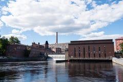 Tammerkoski kraftverk Arkivfoto