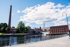 Tammerkoski rapids and power plant Royalty Free Stock Images