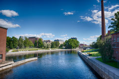 Tammerkoski in the summer Royalty Free Stock Images