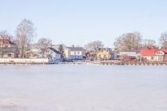 Tammisaari city. The city of tammisaari, from a winter sea view stock image