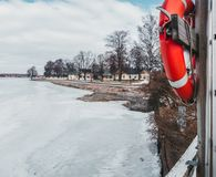 Tammisaari Raasepori岸在一个冬日 免版税库存照片