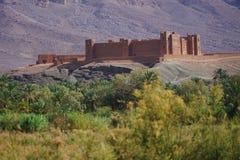 Tamnougalt Kasba dokąd tutaj filmował Il filmu herbaty w pustyni reżyser filmowy Bernardo Bertolucci Zdjęcie Stock