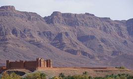 Tamnougalt Kasba dokąd tutaj filmował Il filmu herbaty w pustyni reżyser filmowy Bernardo Bertolucci Zdjęcia Stock