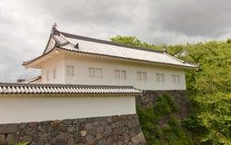 Tamon torn av den andra borggården av den Yamagata slotten, Japan Royaltyfri Bild