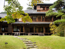 Tamozawa皇家别墅在日光,日本 免版税库存照片