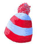Tampão colorido do inverno de lãs Fotografia de Stock
