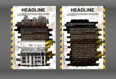 Tampão da construção do molde do folheto de Infographic ilustração royalty free