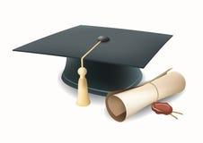 Tampão da graduação do vetor Fotografia de Stock
