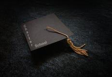 Tampão da graduação da escola autônoma fotos de stock