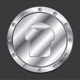 Tampão de alumínio brilhante do combustível ilustração stock