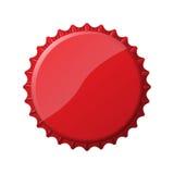 Tampão de garrafa vermelho Fotografia de Stock Royalty Free