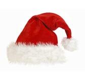 Tampão de Papai Noel no branco fotografia de stock