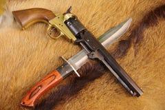 Tampão do potro da marinha & bola, Bowie Knife foto de stock