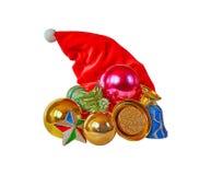 Tampão e decorações do Natal Imagens de Stock Royalty Free