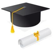 Tampão e diploma ilustração royalty free