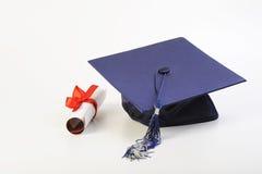 Tampão e diploma Imagem de Stock Royalty Free
