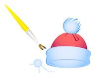 Tampão e escova do inverno Foto de Stock