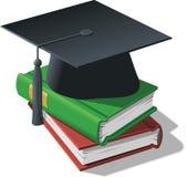 Tampão e livros da graduação Ilustração Royalty Free