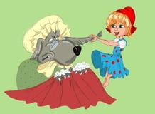 Tampão e lobo pequenos vermelhos Foto de Stock