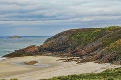 Tampão Frehel (Brittany, França): a costa Imagens de Stock Royalty Free