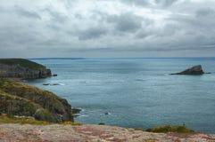 Tampão Frehel (Brittany, França): a costa Imagem de Stock