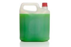 Tampão plástico branco do vermelho do frasco Fotografia de Stock