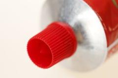 Tampão vermelho do fechamento Fotografia de Stock Royalty Free