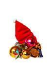 Tampão vermelho do Natal Imagens de Stock Royalty Free