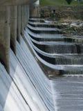Tampões brancos na represa Fotos de Stock Royalty Free