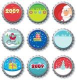 Tampões de frasco do Natal ilustração royalty free